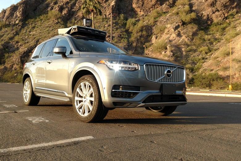 An Uber self-driving car.