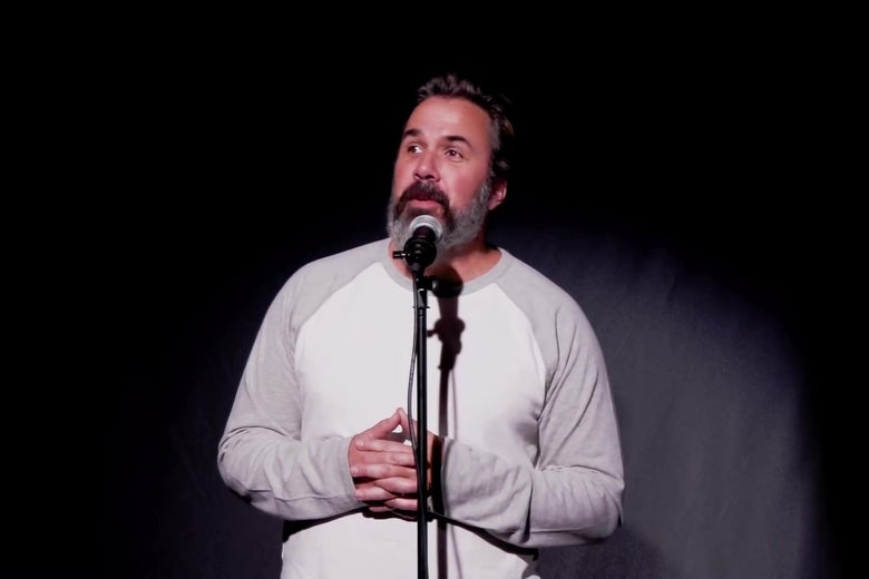 "Manuel Oliver performing ""stand up."""