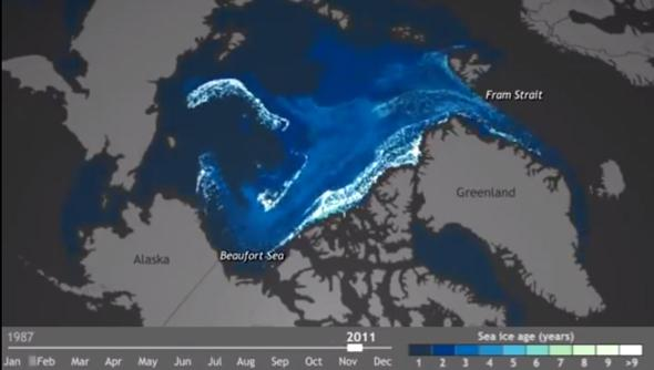Arctic ice is melting