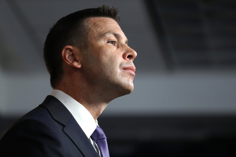 Kevin McAleenan viewed in profile.