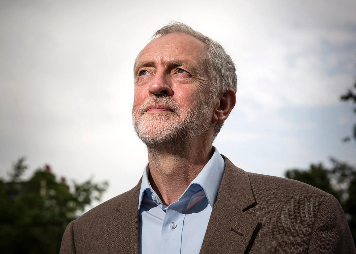 Jeremy Corbyn poses for a portrait on July 16, 2015 in London.