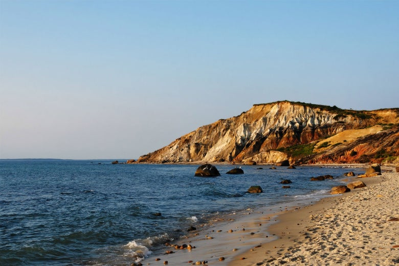 Beachside cliffs on Martha's Vineyard.