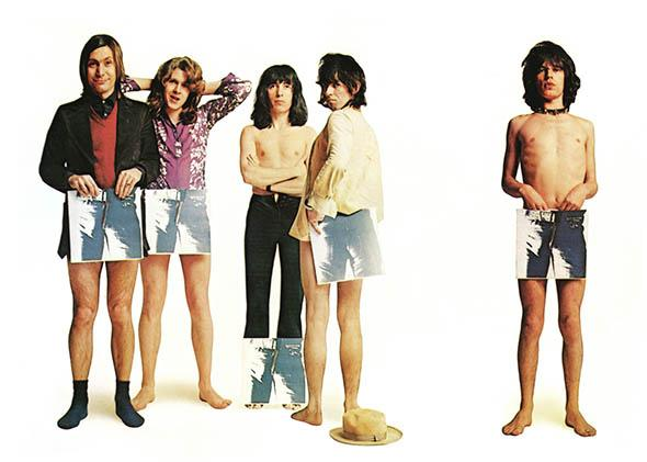 "Rock and roll band ""The Rolling Stones"" pose for a portrait to promote the release of their album ""Sticky Fingers""."