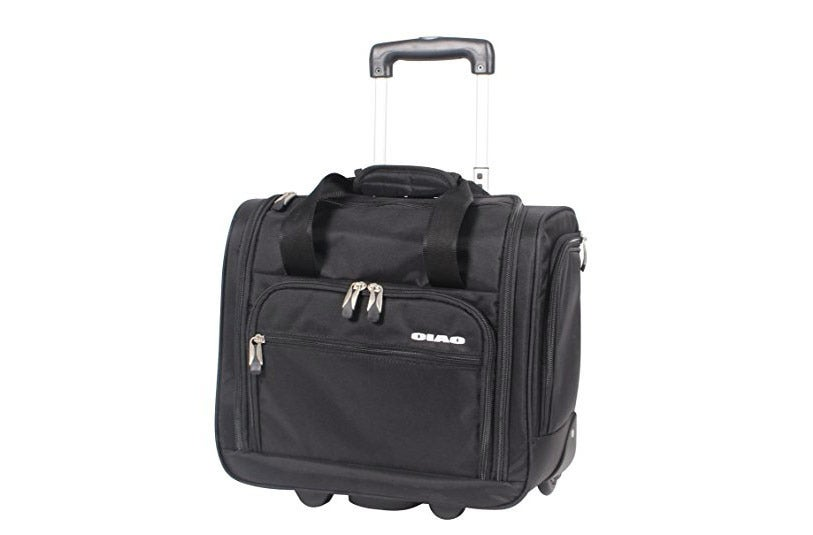 Ciao Luggage Carry On Suitcase Wheeled Airplane Weekender Under the Seat Bag.