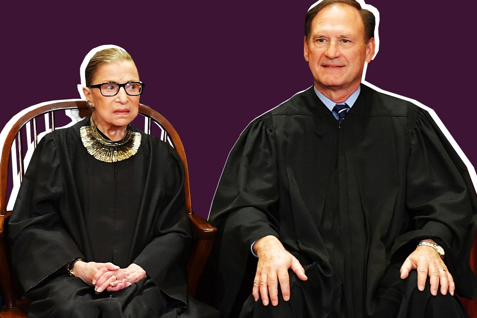 Ruth Bader Ginsburg and Samuel Alito.