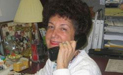 The phone is fine for Sue Heyman and her clients.