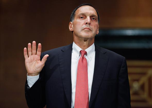 Lehman Brothers former Chairman and CEO Richard Fuld is sworn in before testifying to the Financial Crisis Inquiry Commission about the roots and causes of the 2008 financial and banking meltdown in U.S. and worldwide markets.