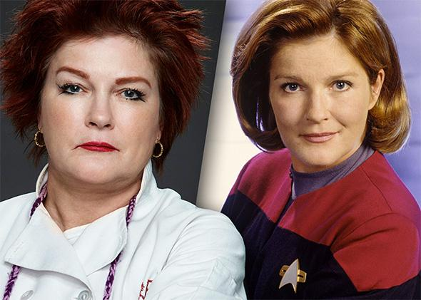 Galina Reznikov and Captain Janeway.