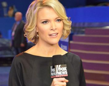 Megyn Kelly giving a standup news report from the floor of the Republican National Convention in 2012.