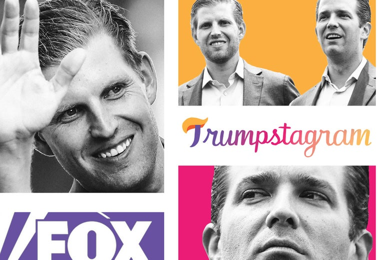Eric Trump, Donald Trump Jr., Fox News logo, Trumpstagram.