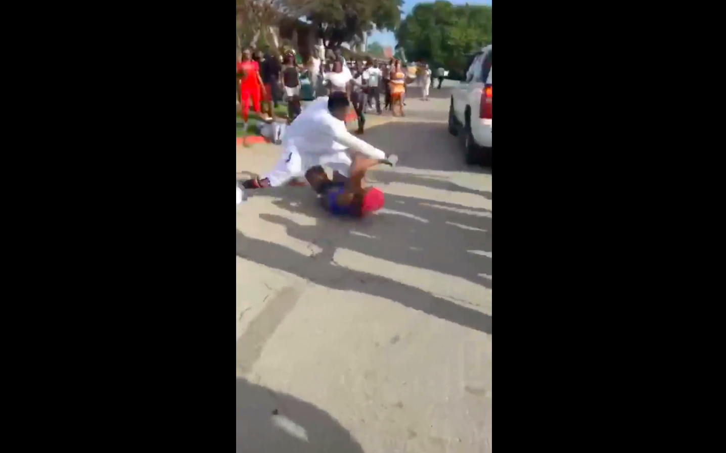 A screenshot from the video of the assault.