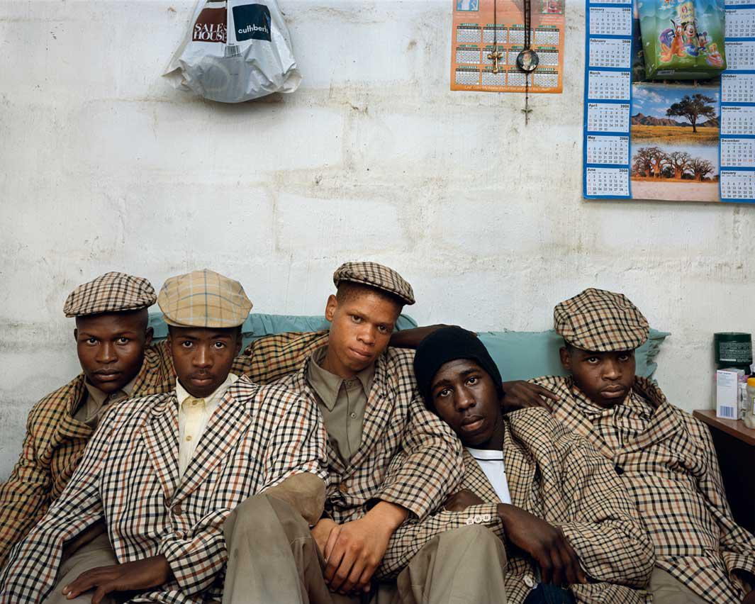 Loyiso Mayga, Wandise Ngcama, Lunga White, Luyanda Mzantsi, Khungsile Mdolo after their initiation ceremony, Mthatha, 2008