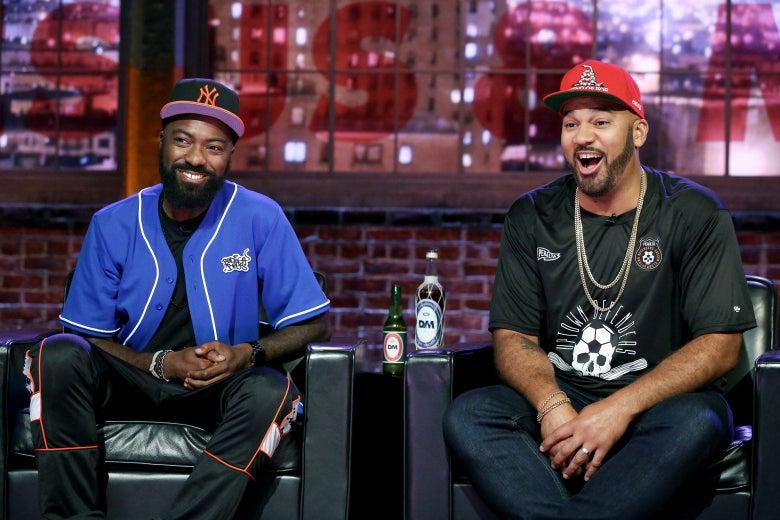 Desus and Mero on their show.
