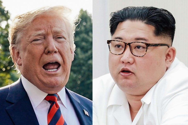 U.S. President Donald Trump and North Korean leader Kim Jong-un.