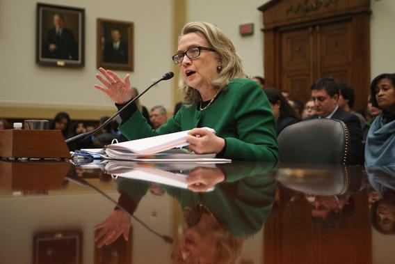 Secretary of State Hillary Clinton testifies before the House Foreign Affairs Committee.
