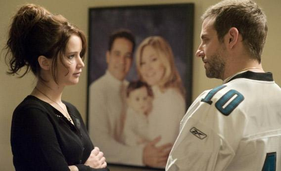 Still of Bradley Cooper and Jennifer Lawrence in Silver Linings Playbook.