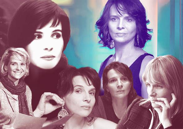 Juliette Binoche in Flight of the Red Balloon, Blue, Certified Copy, Caché, Clouds of Sils Maria, and Summer Hours.
