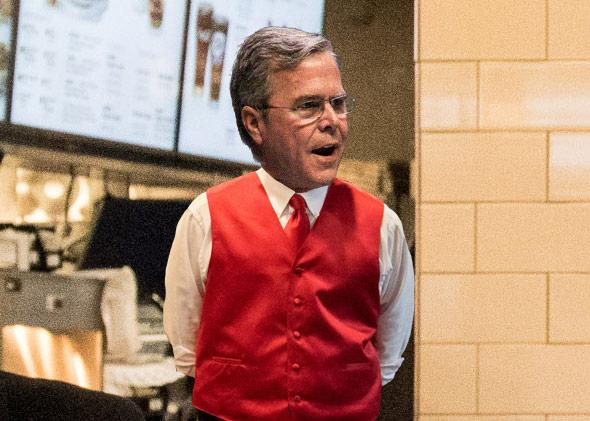 If Jeb Bush were an employee of Chick-Fil-A.
