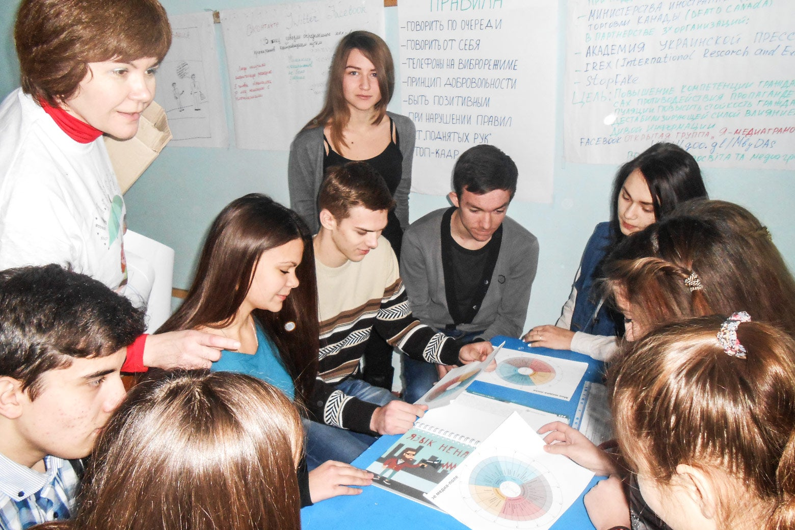 Students in media literacy program UMPP/IREX.