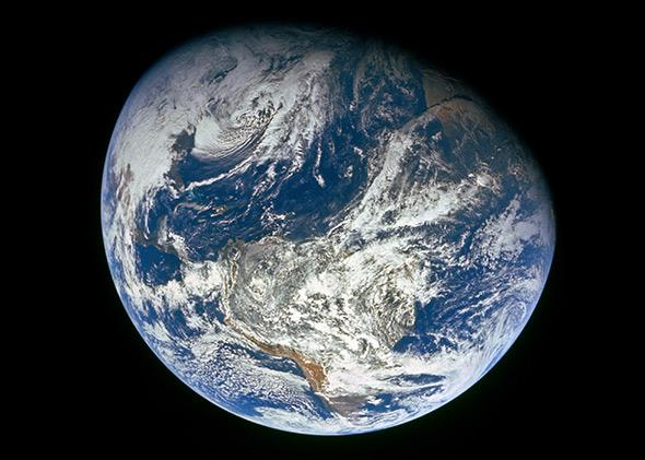 Earth Viewed by Apollo 8 ,December 22, 1968.