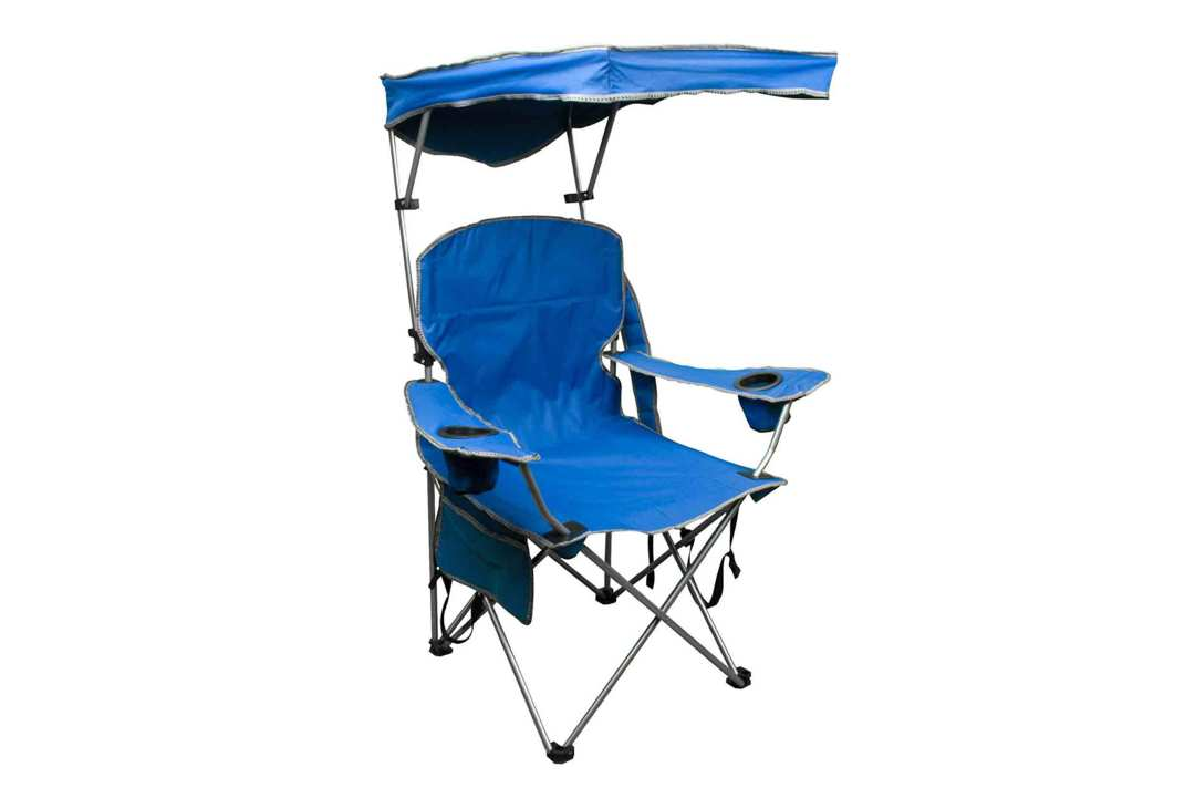 Quik Shade Adjustable Canopy Folding Camp Chair.