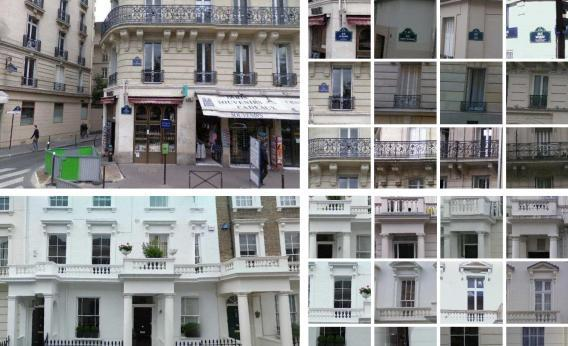 Paris and London Google Street View images