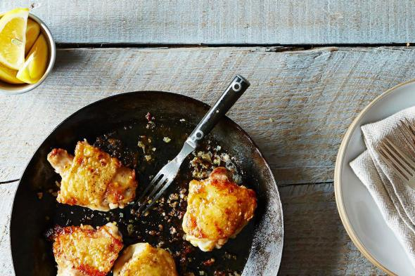 How to Make Impossibly Crispy Chicken With Only a Tablespoon of Oil