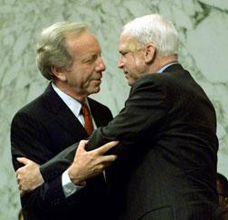 Joseph Lieberman and John McCain in 2000. Click image to expand.