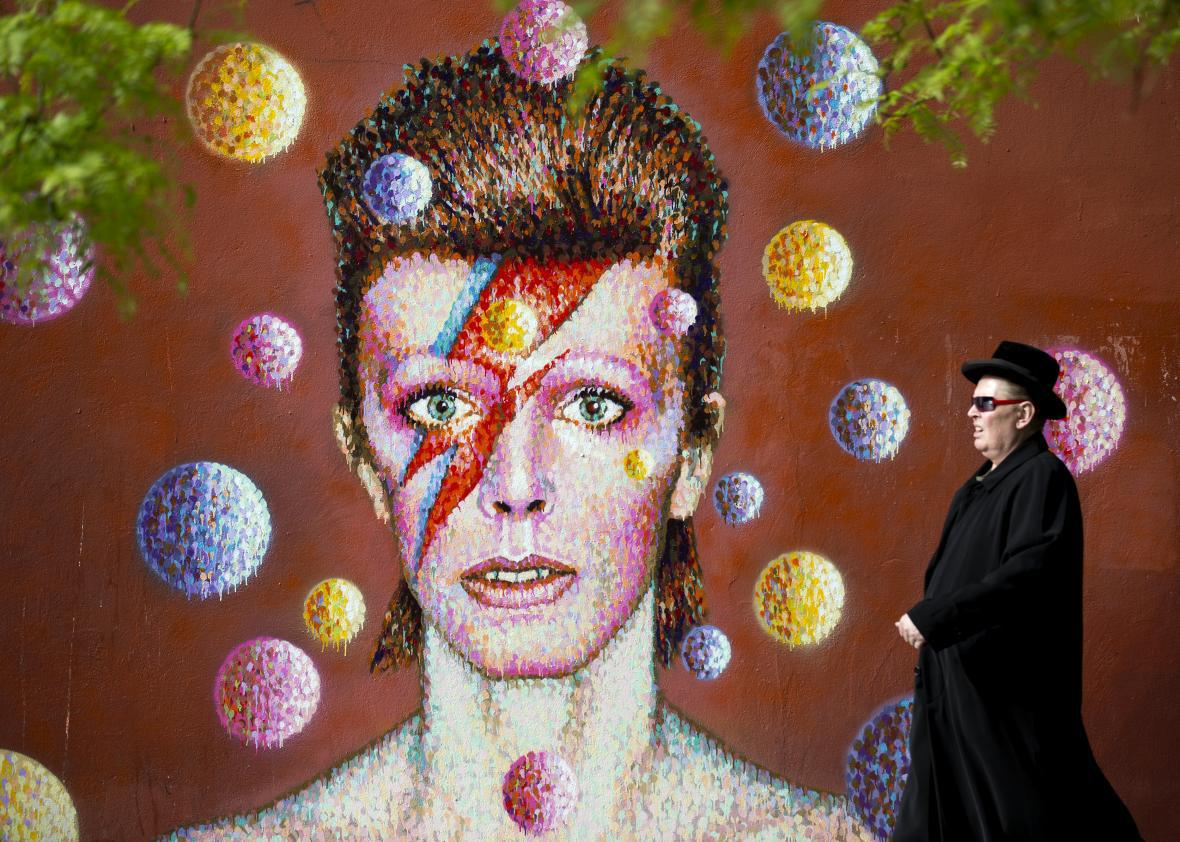A mural for David Bowie in his hometown of Brixton.