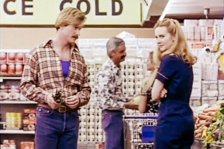 A still from the 1993 Tales of the City adaptation featuring Laura Linney at the Marina Dateway.
