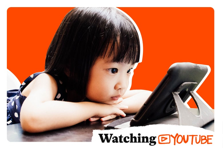 Kid watching YouTube.