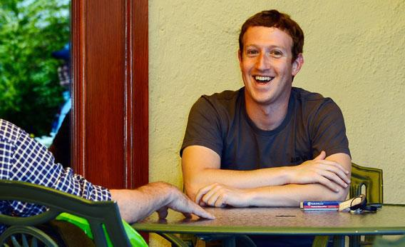 Facebook CEO Mark Zuckerberg speaks with Washington Post Chairman and CEO Donald Graham on July 12, 2012 in Sun Valley, Idaho.