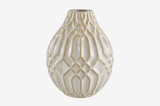 Stone & Beam Modern Ceramic Vase With Geometric Pattern.