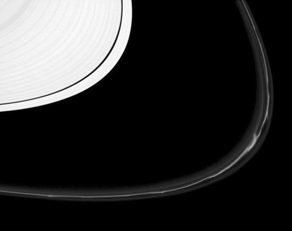 Cassini image of Saturn's A and F rings