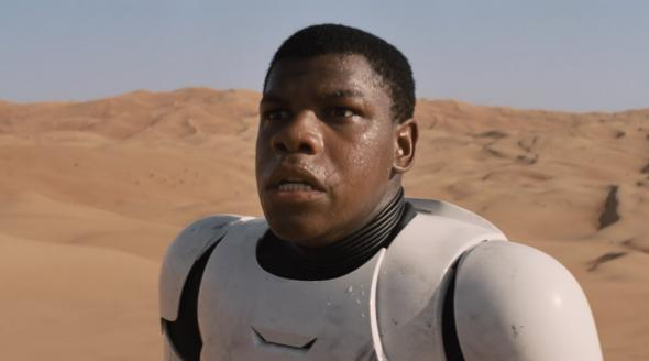 Finn in Star Wars: The Force Awakens
