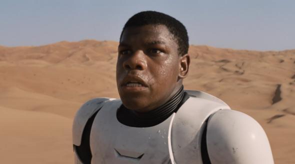 Finn in Star Wars: The Force Awakens