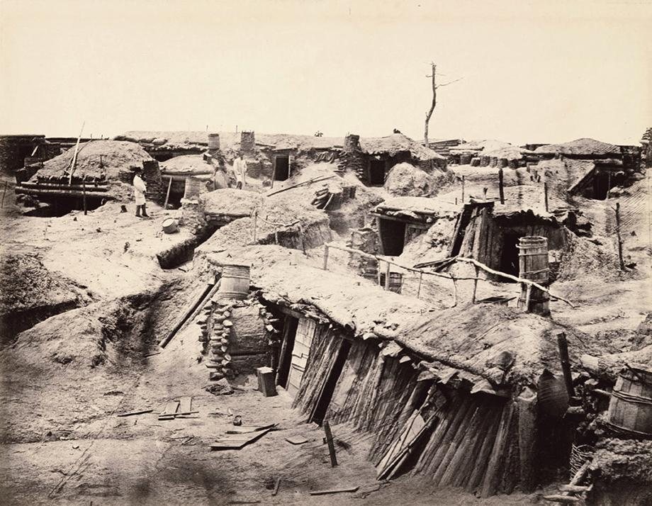 Quarters of Men in Fort Sedgwick, Generally Known as Fort Hell, May 1865. Albumen silver print