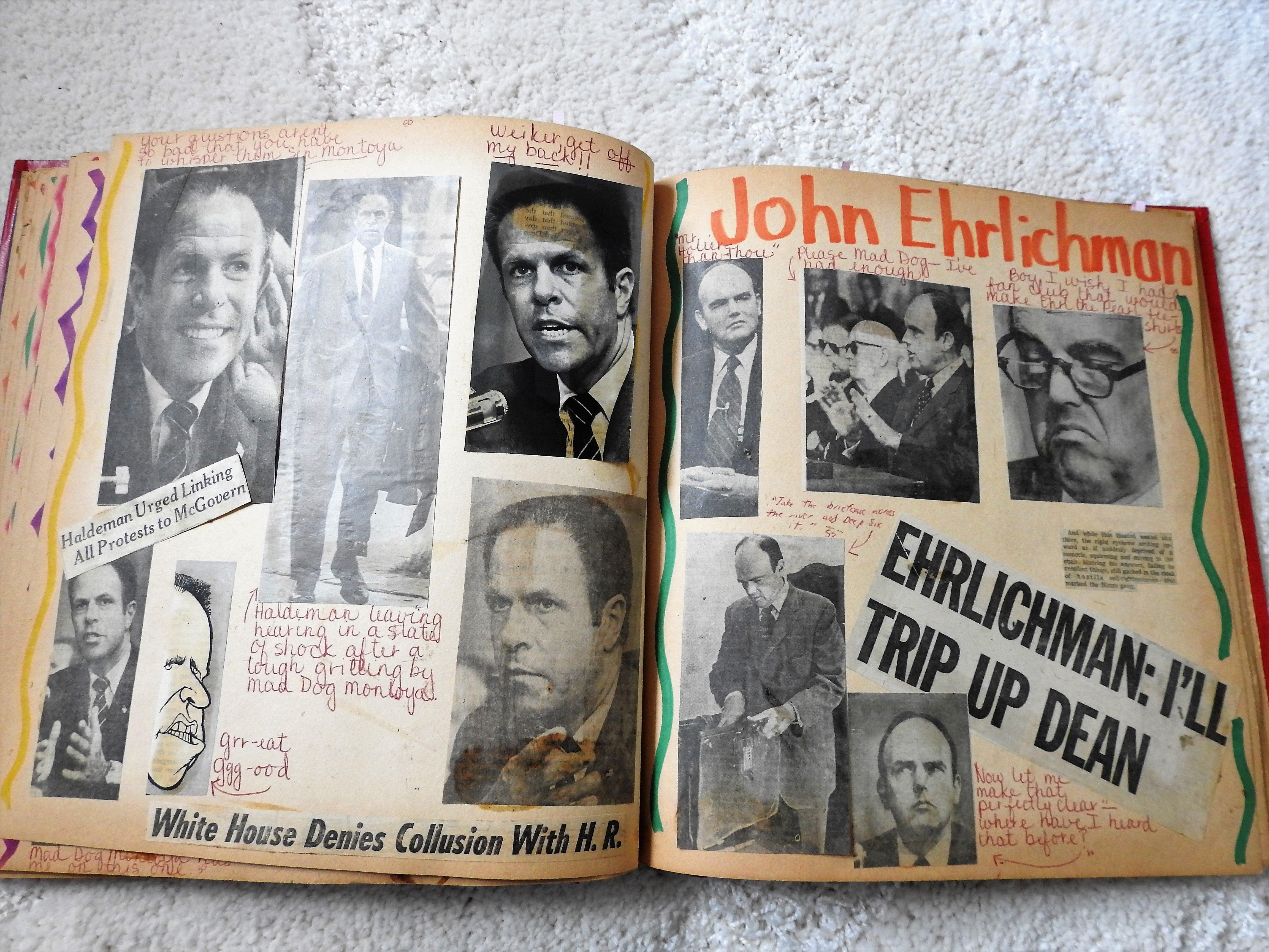 Watergate scrapbook, Erlichman.