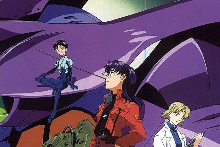 Evangelion's Shinji, Misato, Ritsuko and Unit 0-1