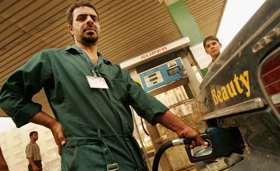 Gas station in Iraq.