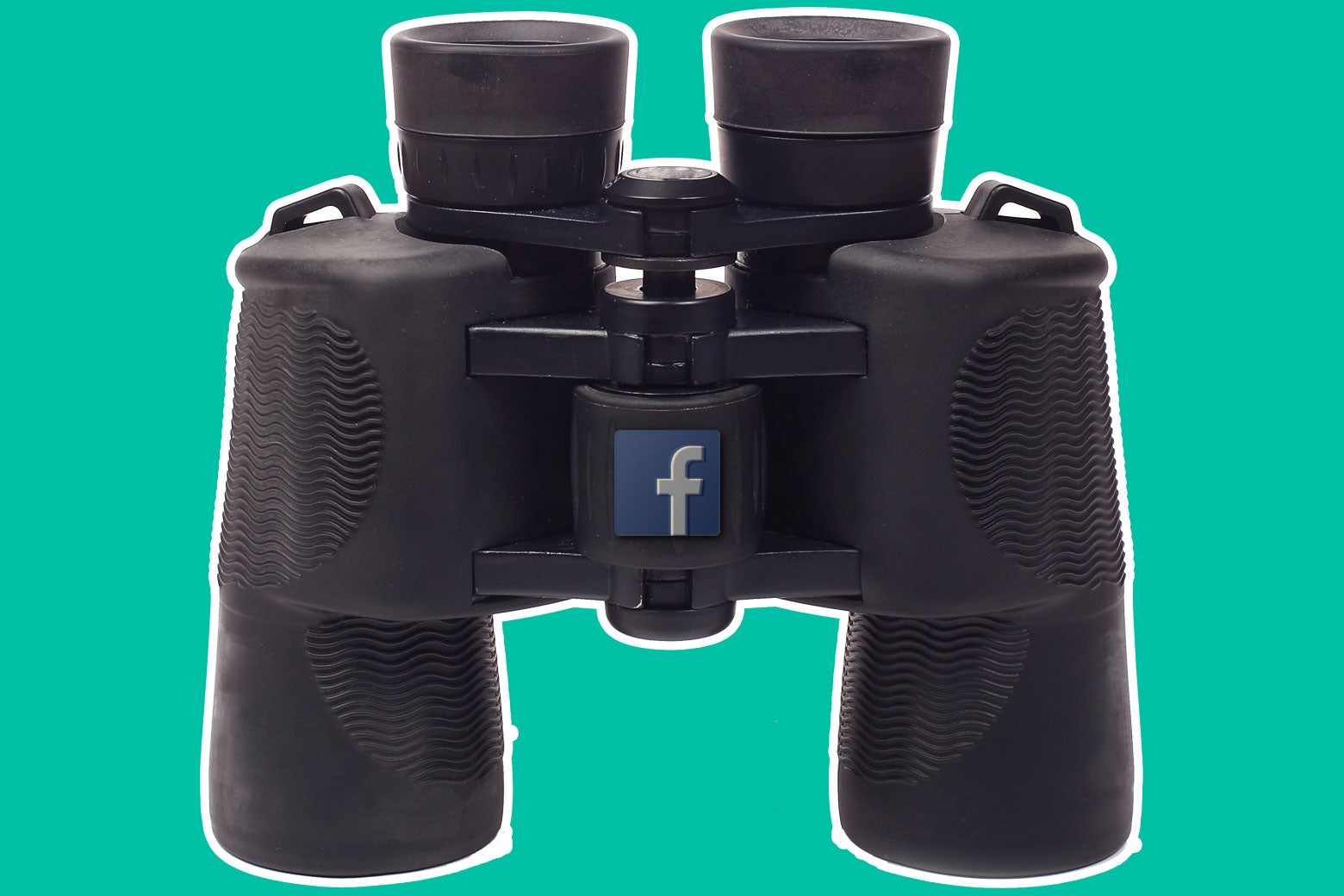 Binoculars with the Facebook logo on them.