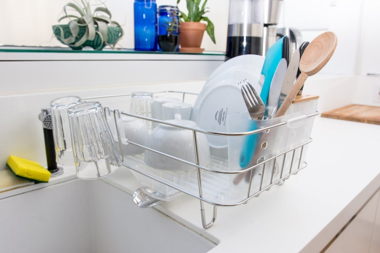 The Simplehuman Slim Wire Frame Dishrack