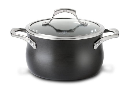 Calphalon Unison Nonstick 4-Quart Soup Pot with Lid.