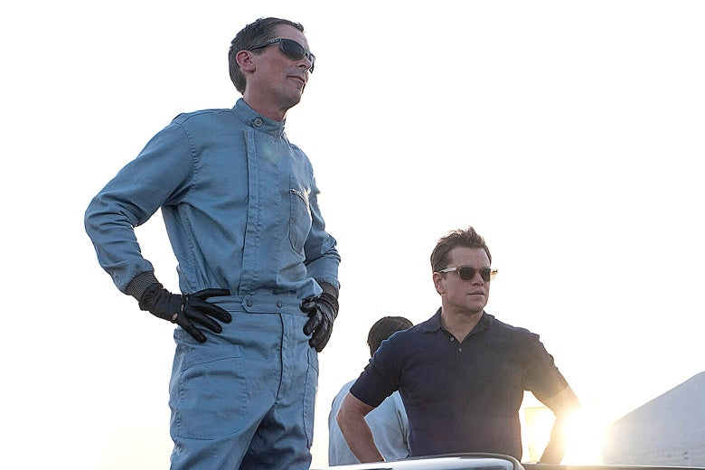 Christian Bale and Matt Damon in Ford v. Ferrari.