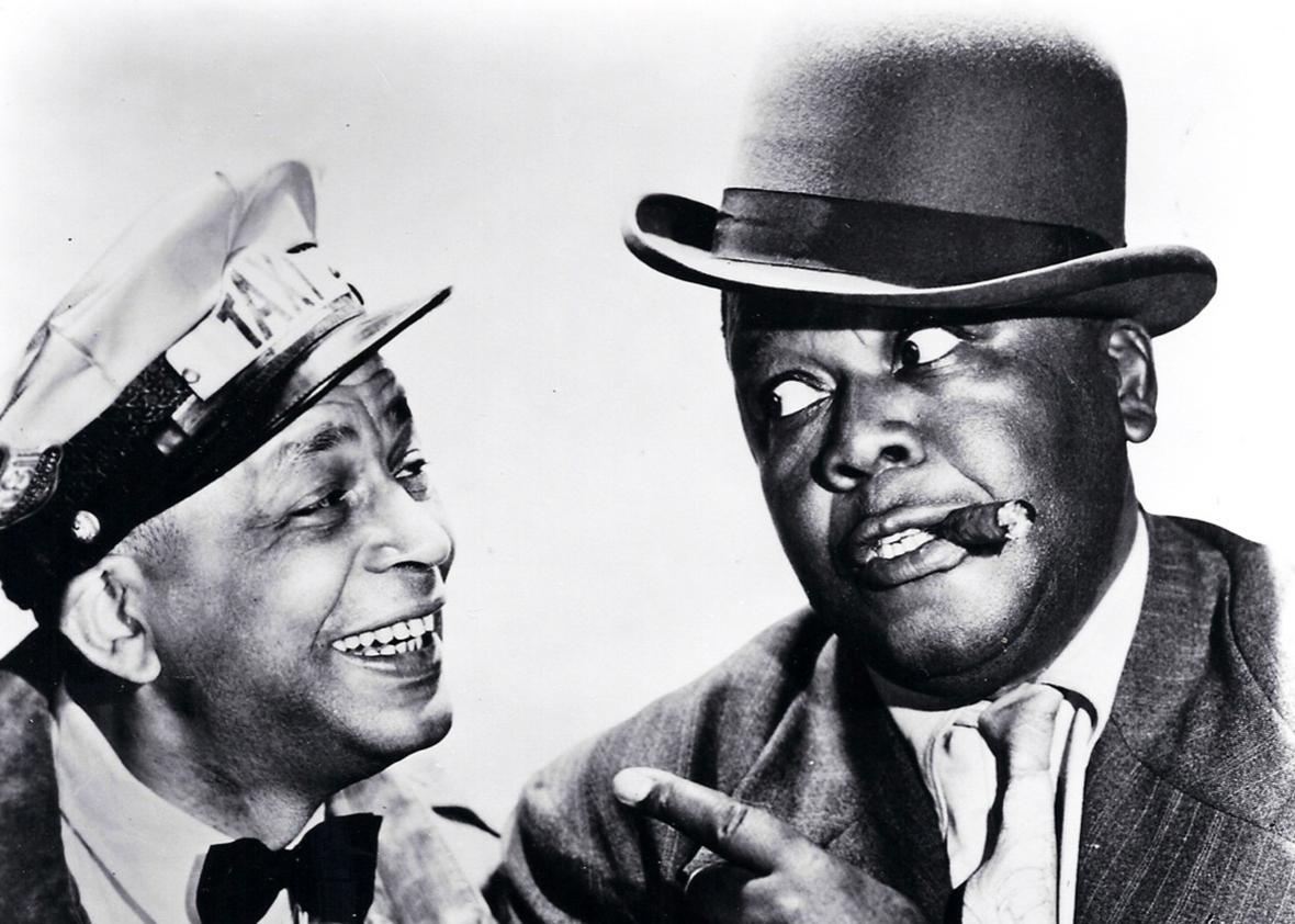 Photo of Alvin Childress as Amos and Spencer Williams as Andy from the television program Amos 'n' Andy 1951.