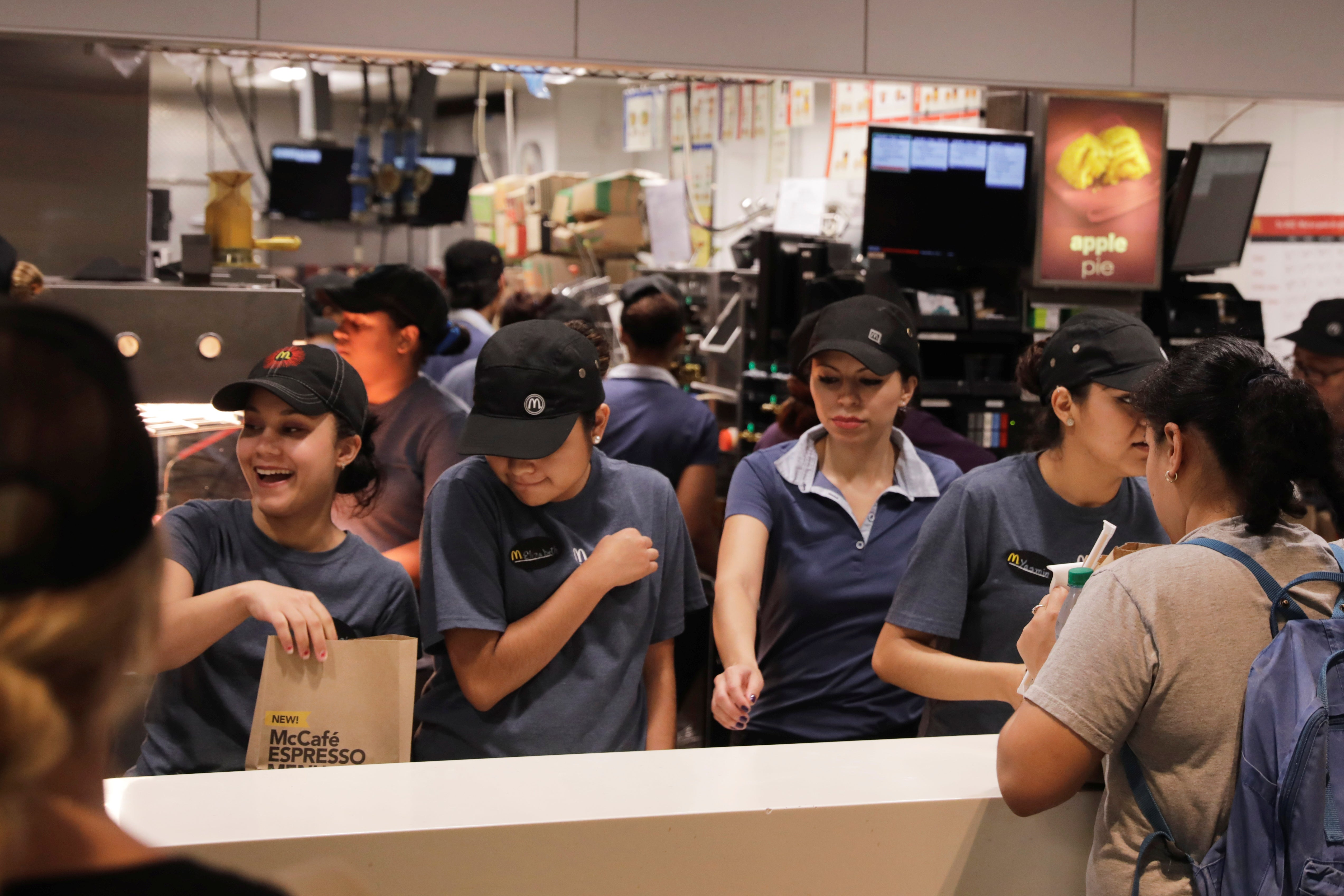 Workers at a McDonalds