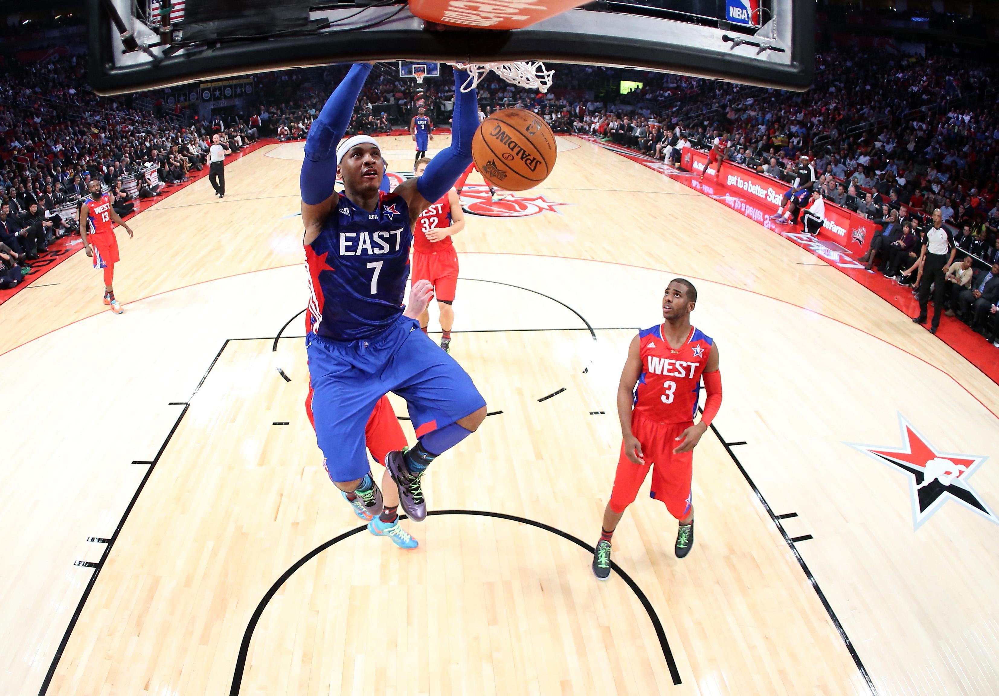 Carmelo Anthony, No. 7 of the New York Knicks