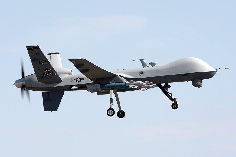 An MQ-9 Reaper drone.