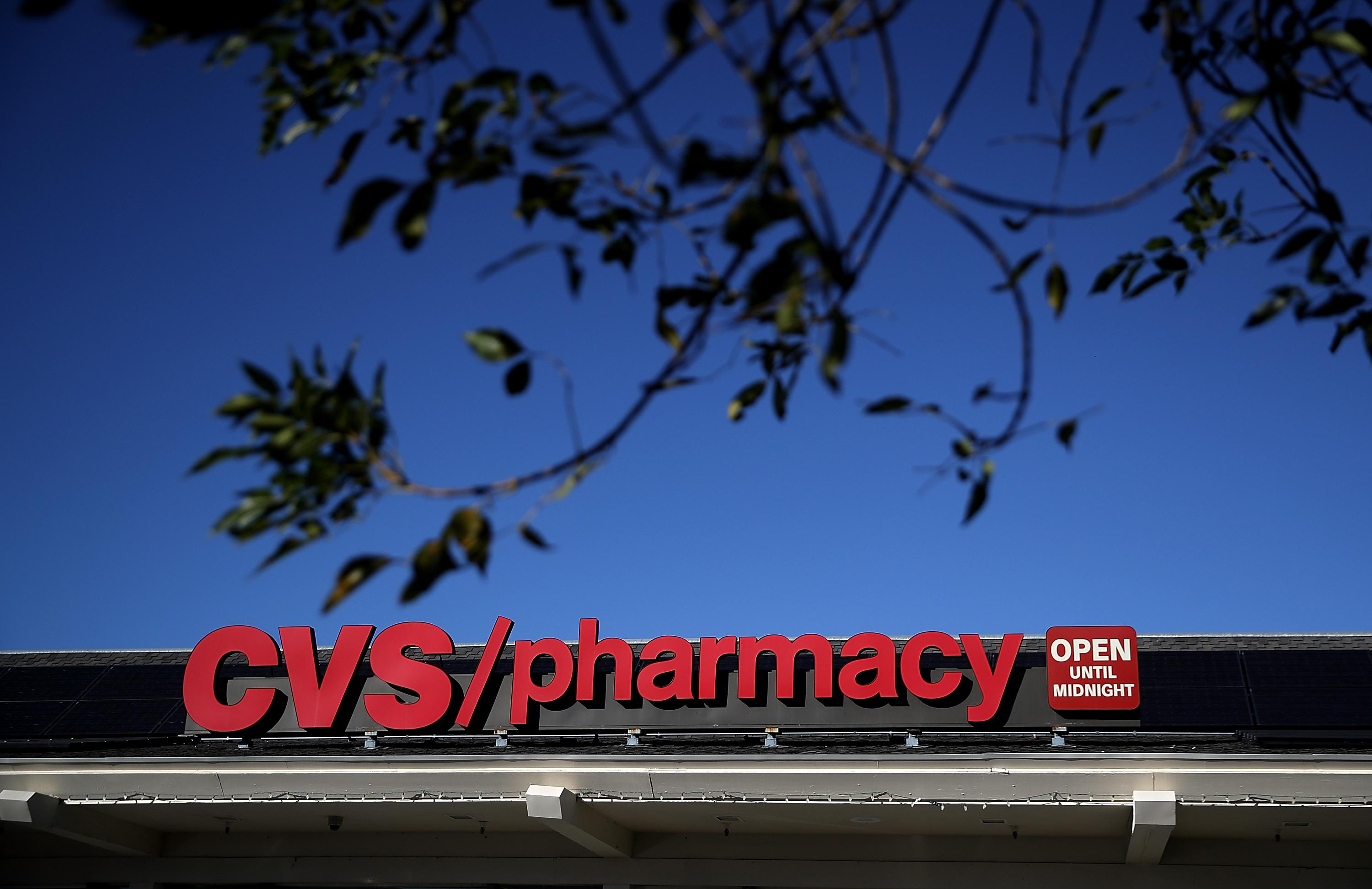 SAN ANSELMO, CA - DECEMBER 04:  A sign is posted on the exterior of a CVS Pharmacy on December 4, 2017 in San Anselmo, California. Drugstore chain CVS Health Corp announced plans on Sunday to acquire health insurer Aetna Inc for $69 billion.  (Photo by Justin Sullivan/Getty Images)