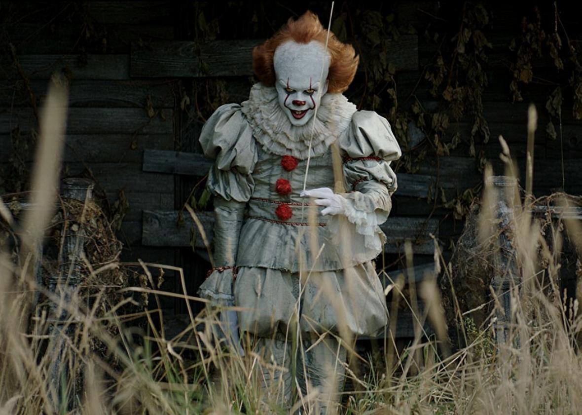 Bill Skarsgard as Pennywise in Stephen King's It